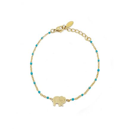 pulsera de elefante dorada