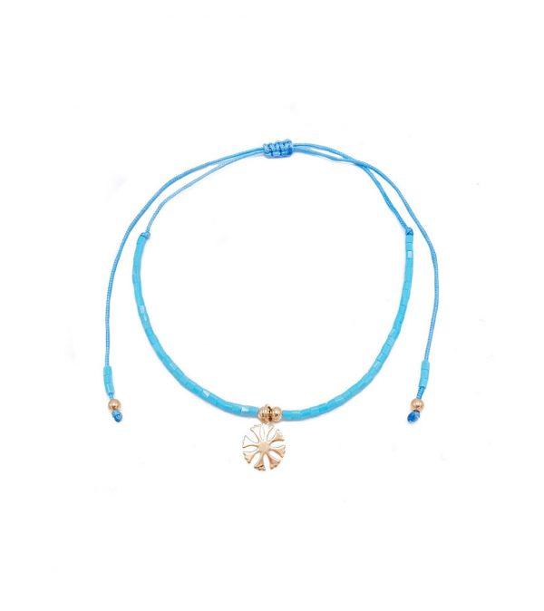pulsera roseta azul