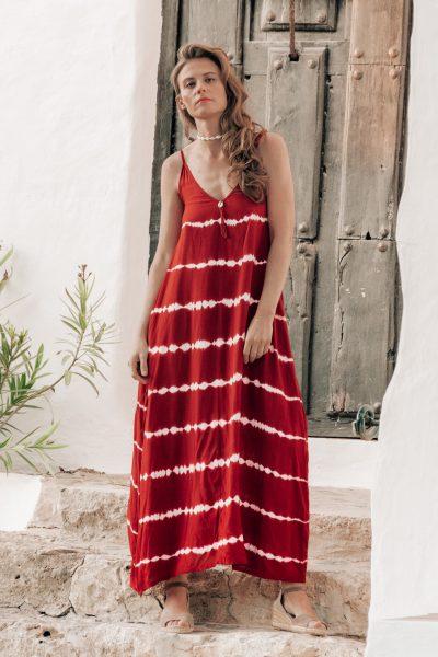 vestido largo tie dye