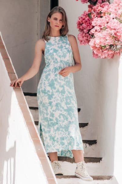 vestido lycra largo