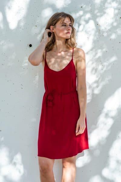vestido de fiesta rojo