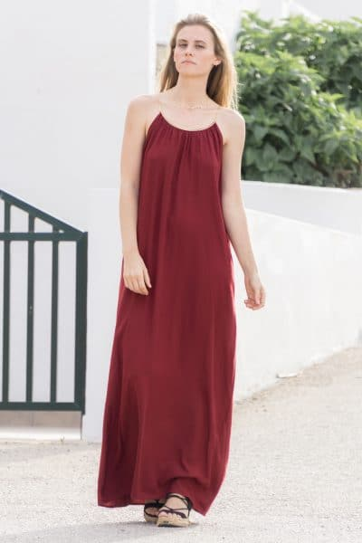 vestido largo boho