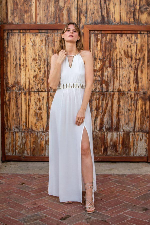 vestido de fiesta boho blanco