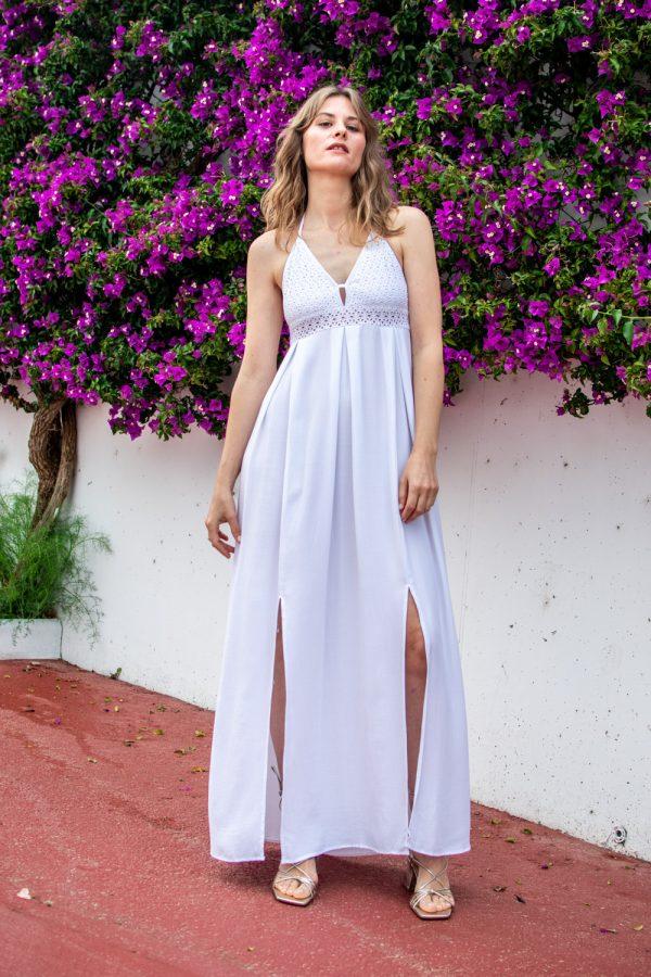 vestido ibicenco largo